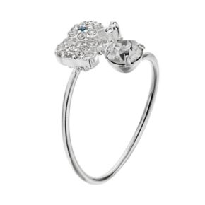 LC Lauren Conrad Elephant & Simulated Crystal Bypass Ring