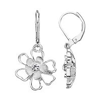 LC Lauren Conrad Openwork Flower Drop Earrings