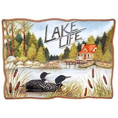 Certified International Lake Life Rectangular Platter