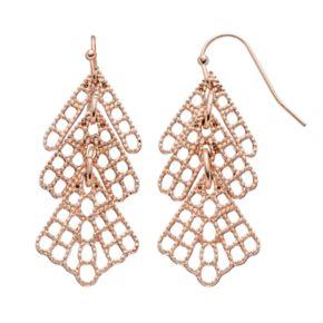 LC Lauren Conrad Textured Layered Drop Earrings