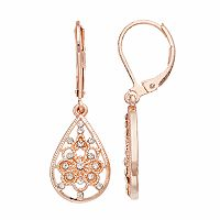 LC Lauren Conrad Openwork Teardrop Earrings