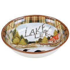 Certified International Lake Life 13 in Serving Bowl