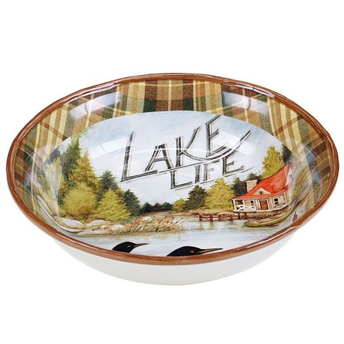 Certified International Lake Life 13-in. Serving Bowl