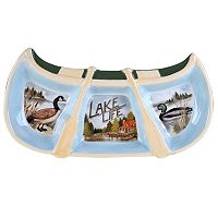 Certified International Canoe 3-Section Relish Tray