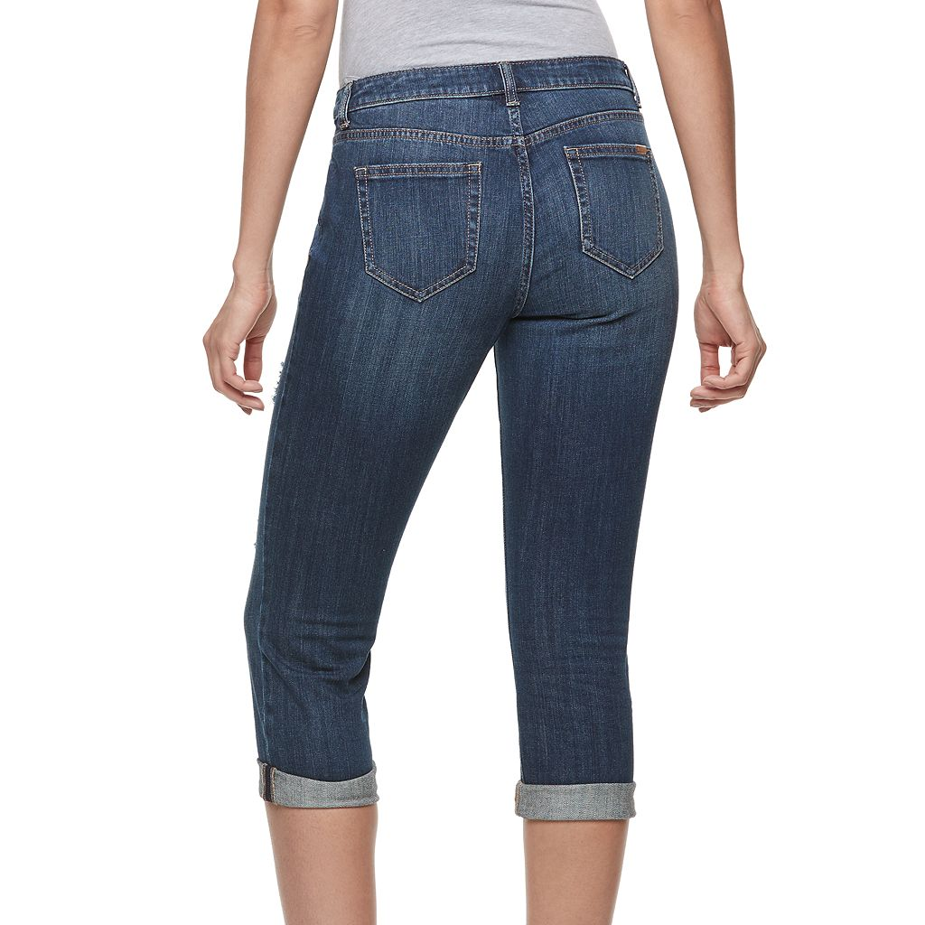Women's Jennifer Lopez Destructed Capri Jeans