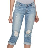 Women's Jennifer Lopez Destructed Capri Jeans
