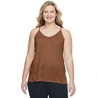 Juniors' Plus Size Mudd® Double V-Neck Camisole