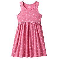 Girls 4-10 Jumping Beans® Pom Curved Waist Racerback Dress