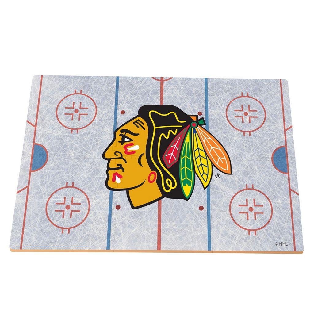 Chicago Blackhawks Replica Hockey Rink Foam Puzzle Floor