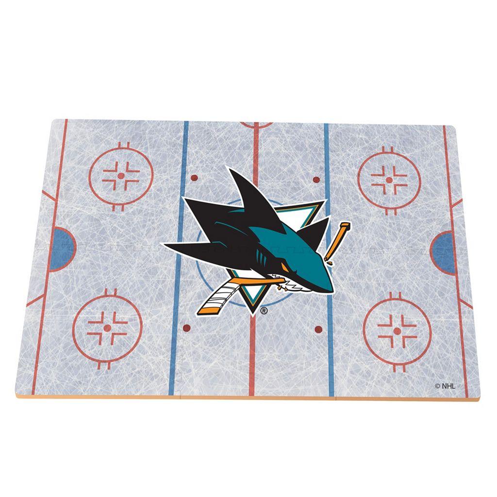 San Jose Sharks Replica Hockey Rink Foam Puzzle Floor