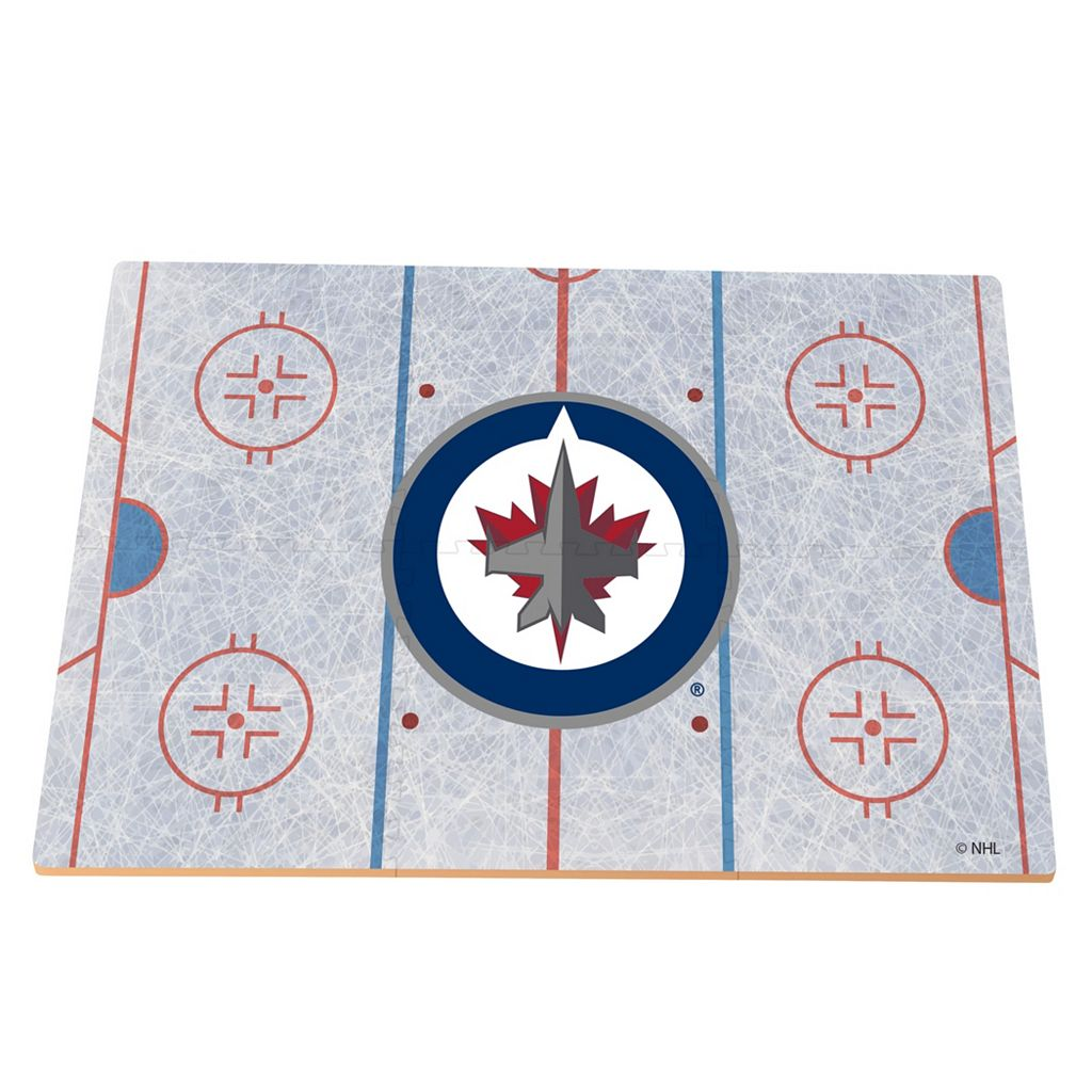 Winnipeg Jets Replica Hockey Rink Foam Puzzle Floor