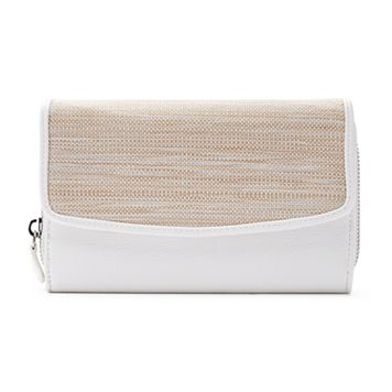 Croft & Barrow® RFID-Blocking Straw Checkbook Holder Clutch