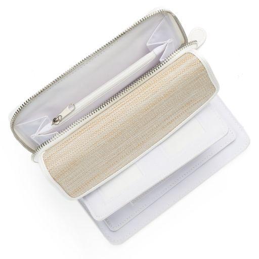 Croft & Barrow® RFID-Blocking Straw Checkbook Holder Clutch