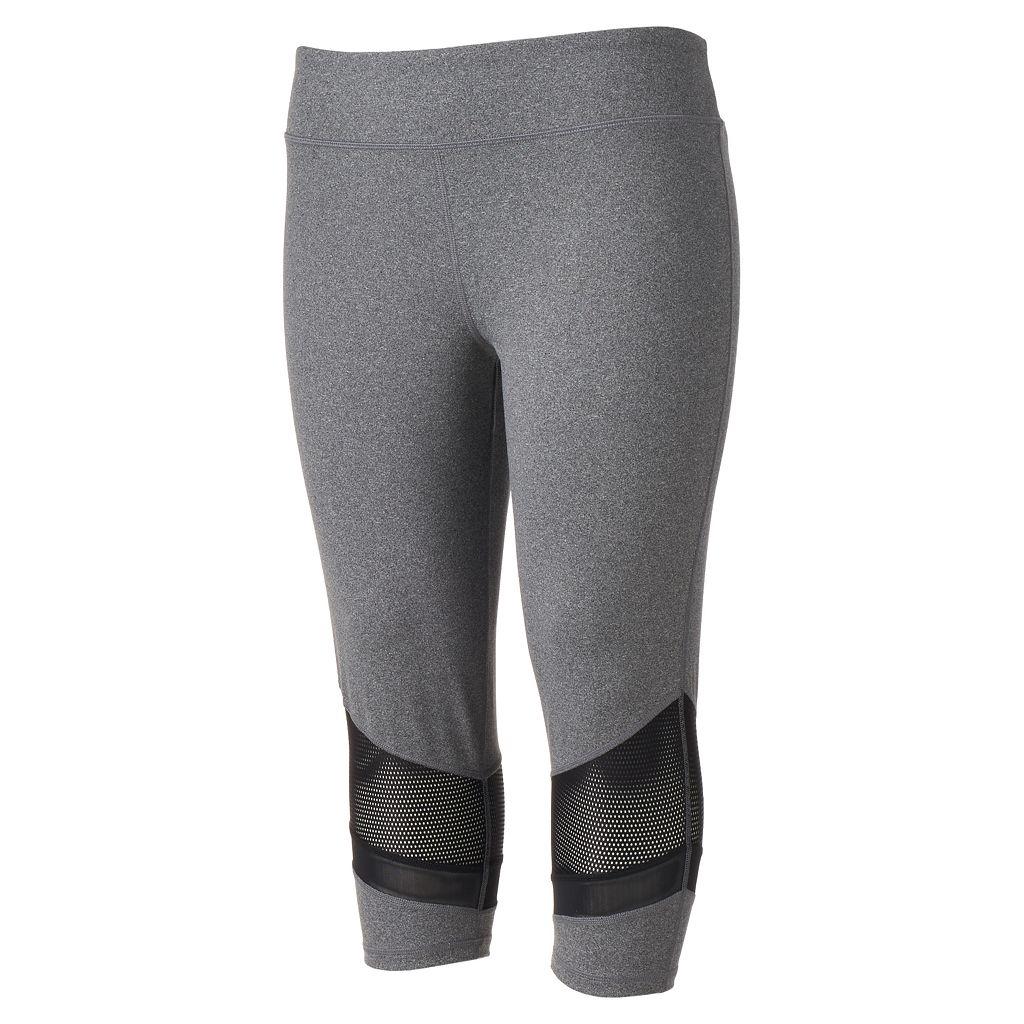 Juniors' Plus Size SO® Splice Yoga Capri Leggings