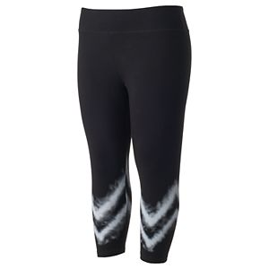 Juniors' Plus Size SO® Tie-Dye Yoga Capri Leggings