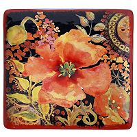 Certified International Watercolor Poppies 12 in Square Platter