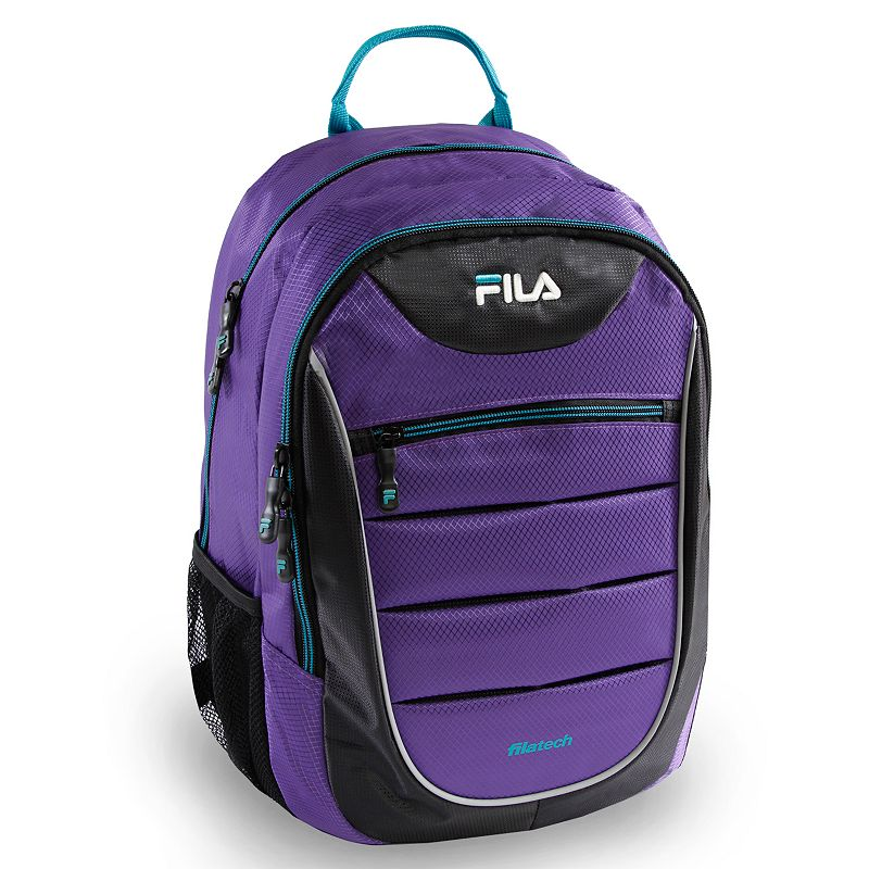 Fila® Argus Laptop Backpack, Purple Stay organized and on track with this FILA Argus backpack. Laptop compartment fits up to a 15.6-in. laptop Tablet sleeve protects electronic devices Organizer keeps items easy to locate Adjustable strap for comfortable carrying 18 H x 12.5 W x 9.5 D Weight: 0.5 lbs. Nylon Zipper closure Manufacturer's 2-year limited warrantyFor warranty information please click here Model no. FL-BP-1355 Size: One size. Color: Purple.