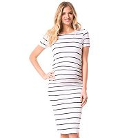 Maternity Pip & Vine by Rosie Pope Ruched T-Shirt Dress