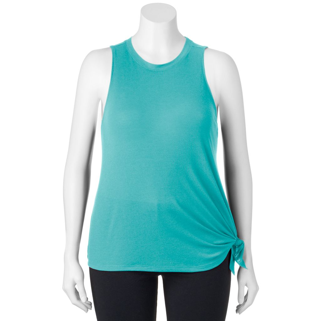 Juniors' Plus Size SO® Ribbed Muscle Tank