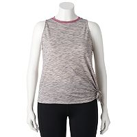 Juniors' Plus Size SO® French Terry Muscle Tank