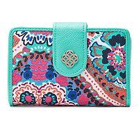 Croft & Barrow® Abbey Indexer RFID-Blocking Floral Medallion Wallet