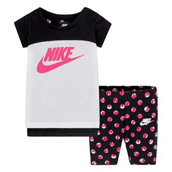 Baby Girl Nike Tunic & Dot Capris Set