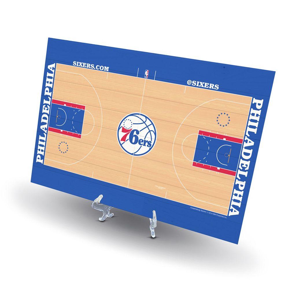 Philadelphia 76ers Replica Basketball Court Display