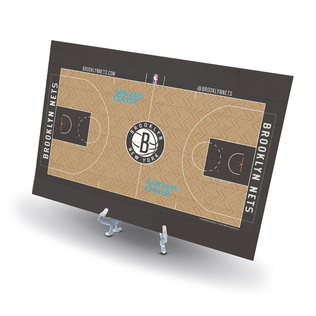 Brooklyn Nets Replica Basketball Court Display