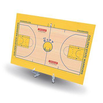 Golden State Warriors Replica Basketball Court Display