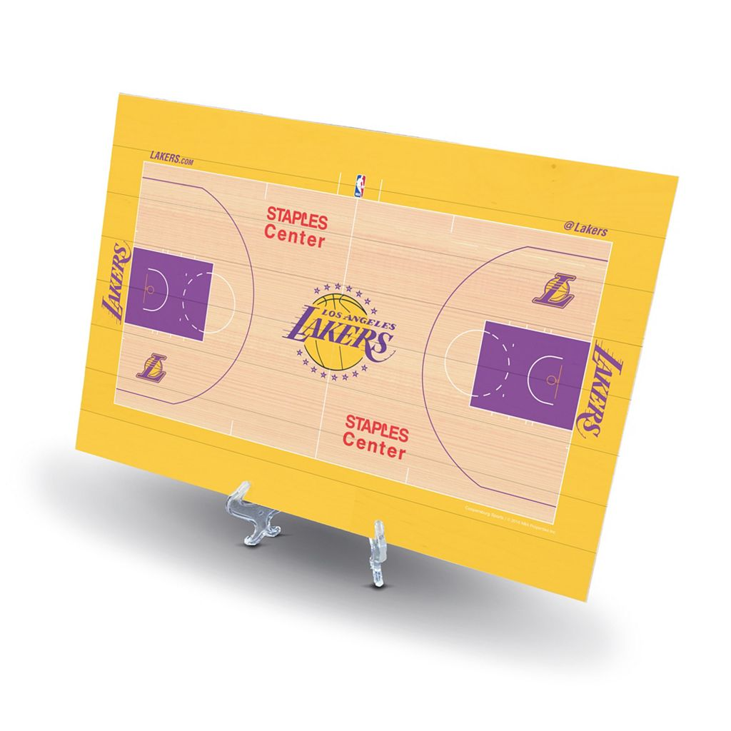 Los Angeles Lakers Replica Basketball Court Display