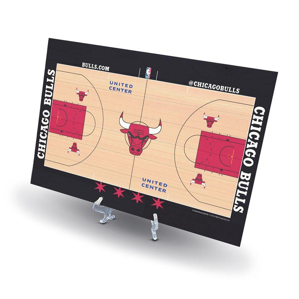 Chicago Bulls Replica Basketball Court Display