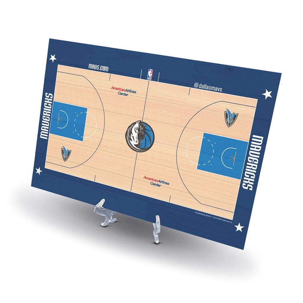 Dallas Mavericks Replica Basketball Court Display