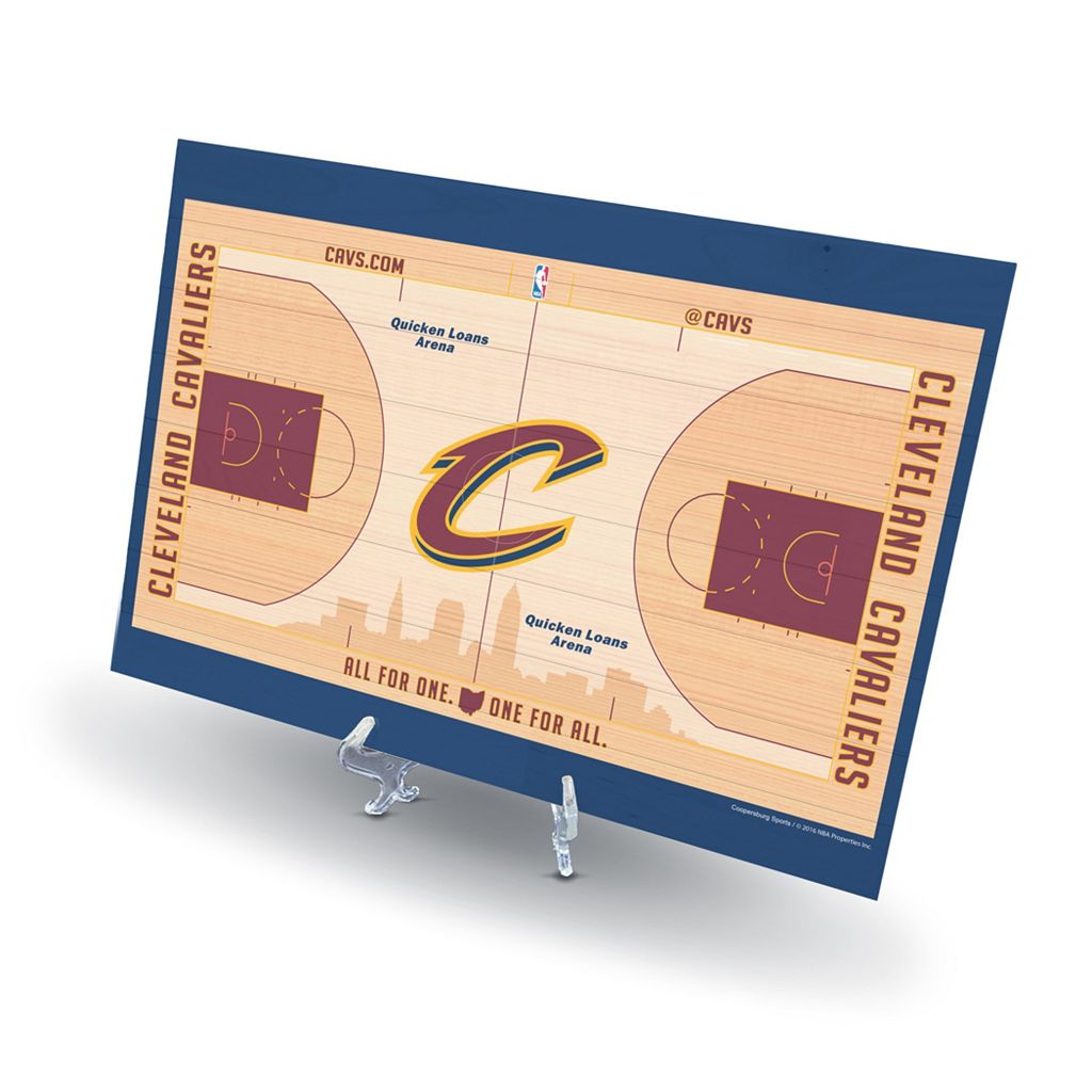 Cleveland Cavaliers Replica Basketball Court Display