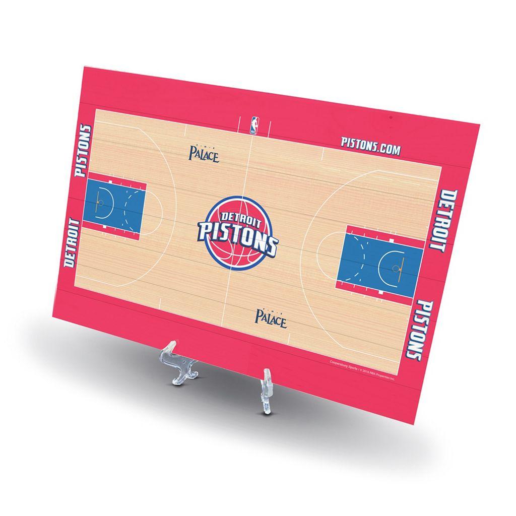 Detroit Pistons Replica Basketball Court Display