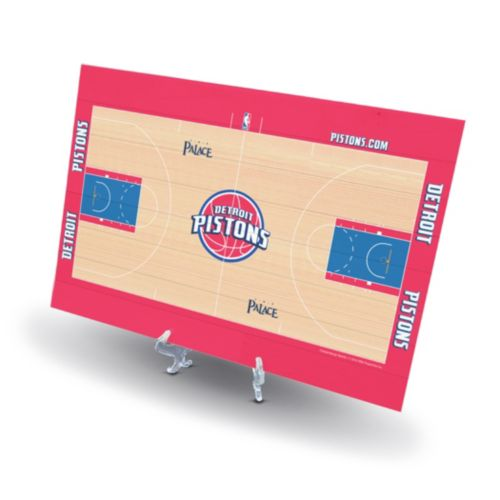 Detroit Pistons Replica Basketball Court Display