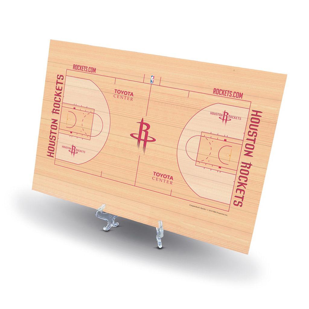 Houston Rockets Replica Basketball Court Display