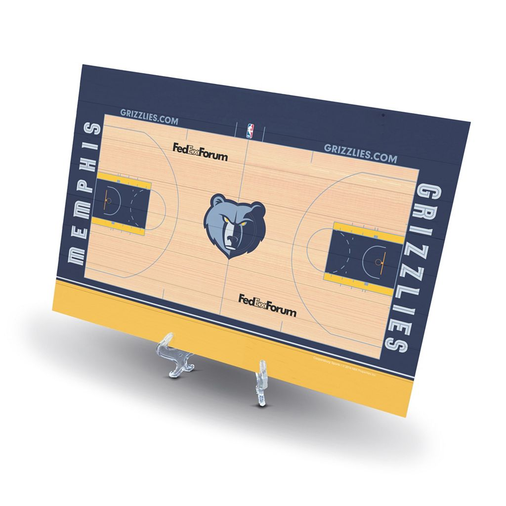 Memphis Grizzlies Replica Basketball Court Display