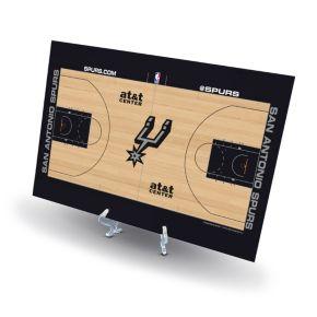 San Antonio Spurs Replica Basketball Court Display