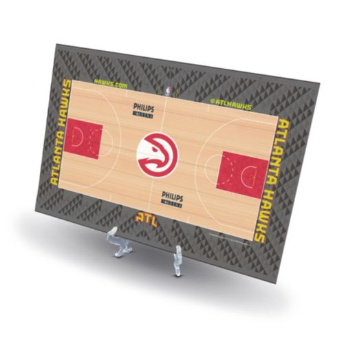 Atlanta Hawks Replica Basketball Court Display