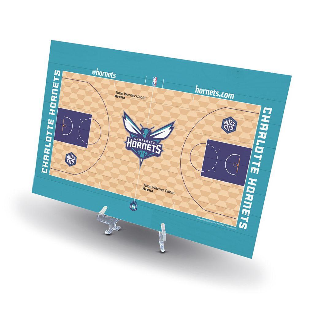Charlotte Hornets Replica Basketball Court Display