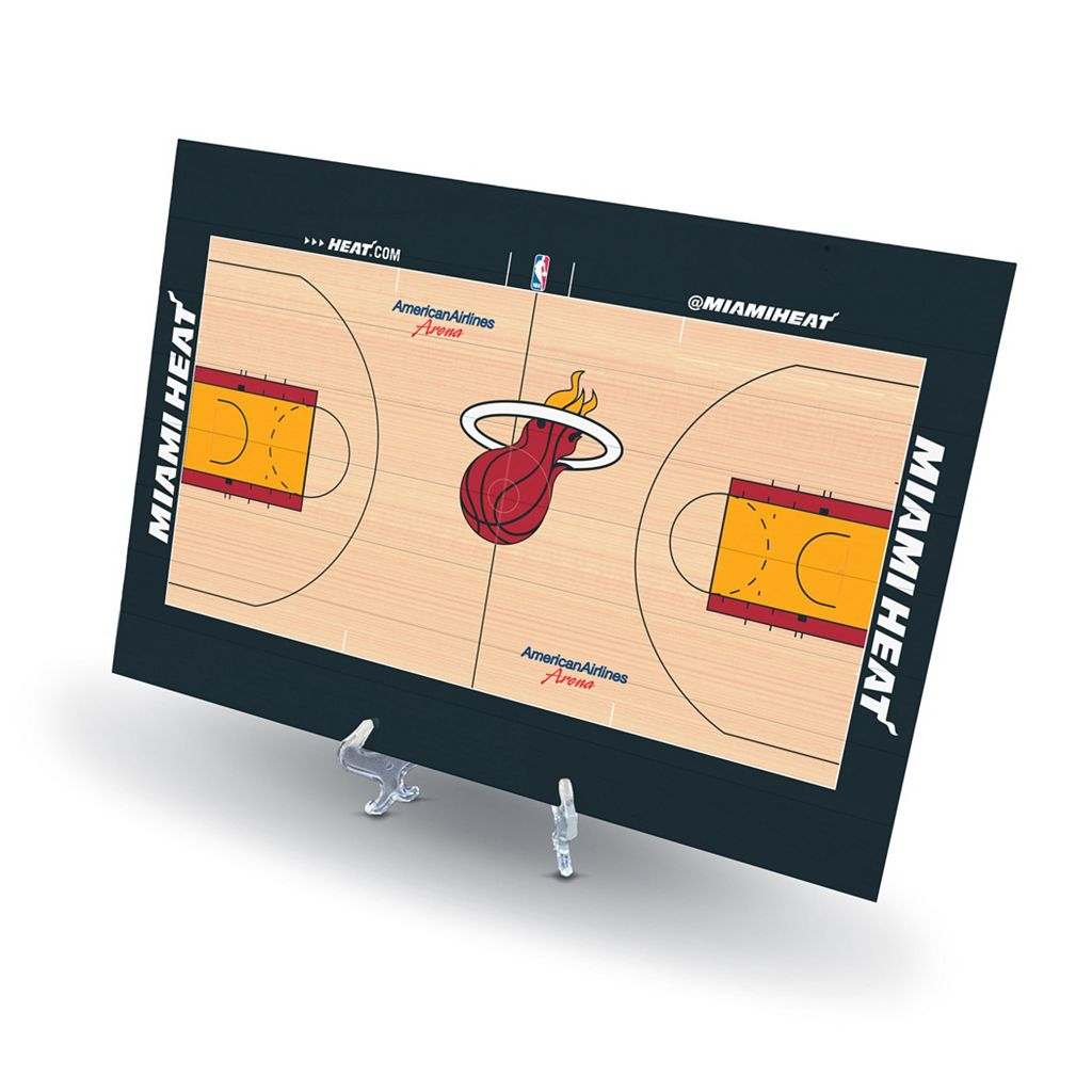 Miami Heat Replica Basketball Court Display