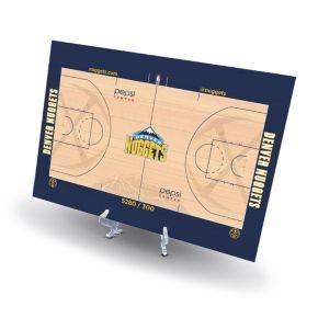 Denver Nuggets Replica Basketball Court Display