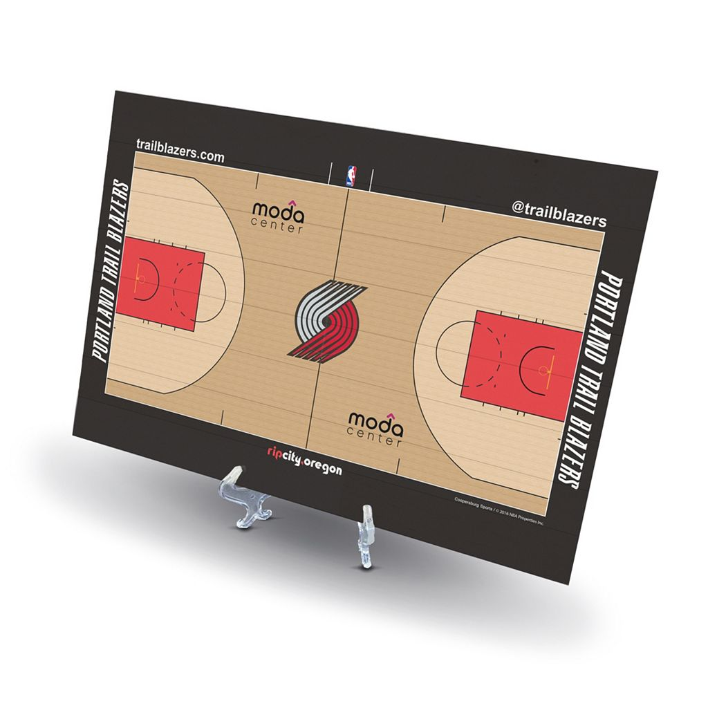Portland Trail Blazers Replica Basketball Court Display