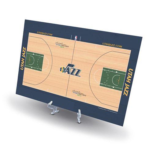 Utah Jazz Replica Basketball Court Display