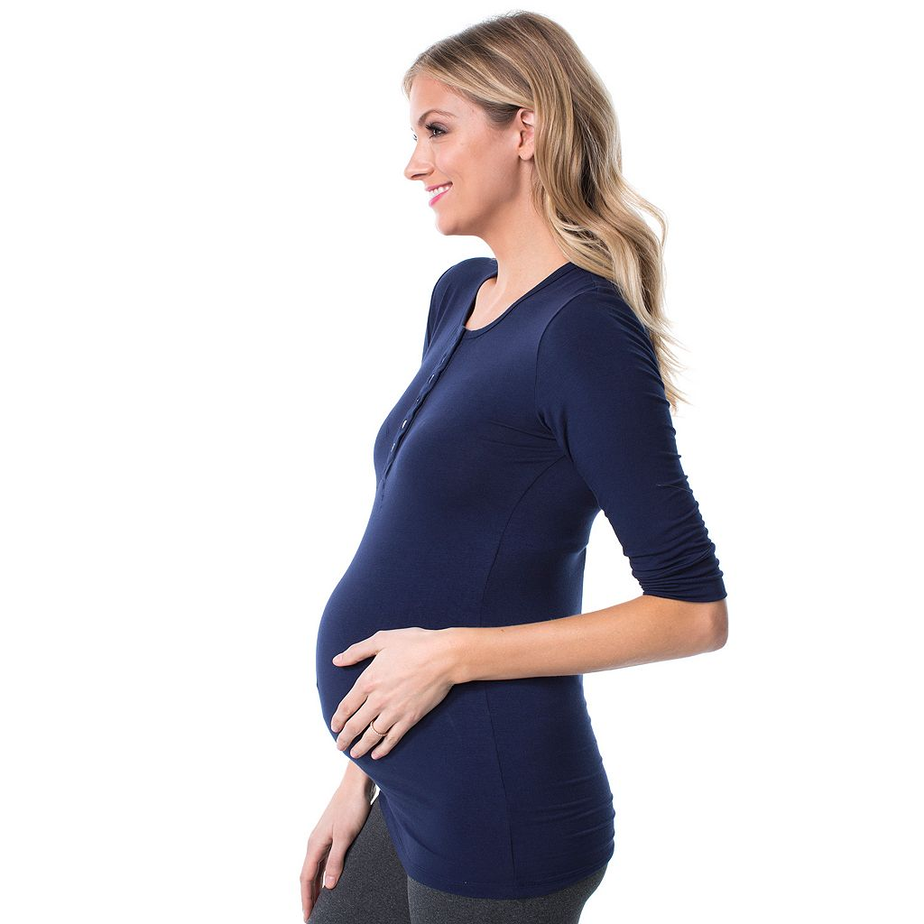 Maternity Pip & Vine by Rosie Pope Henley Tee