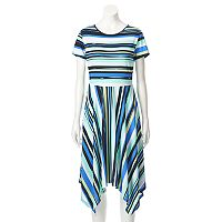 Women's ELLE™ Mixed Stripe Fit & Flare Dress