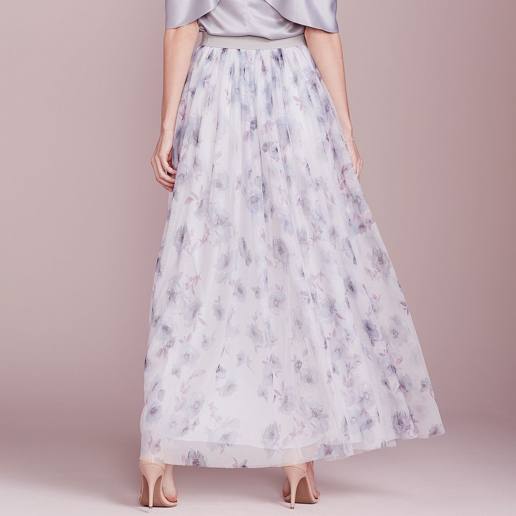 LC Lauren Conrad Dress Up Shop Collection Floral Tulle Maxi Skirt - Women's