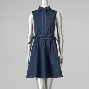 Petite Simply Vera Vera Wang Fit & Flare Shirtdress