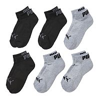 Boys PUMA Quarter Crew Socks 6-Pack