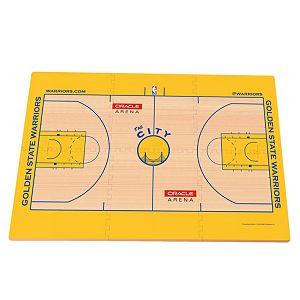Golden State Warriors Replica Basketball Court Foam Puzzle Floor